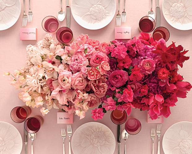 ombre flower center piece