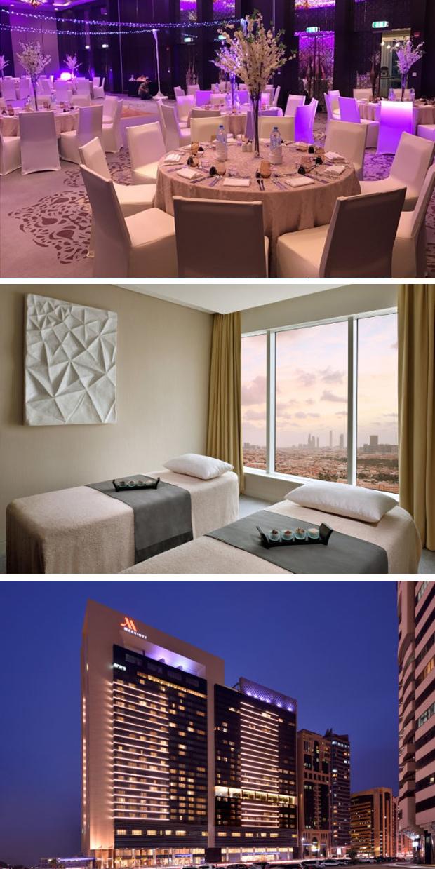 Marriott Abu Dhabi Ballroom Wedding set up Spa