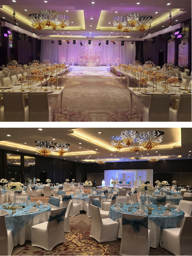Marriott Abu Dhabi Ballroom Wedding set up