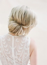 Low Roll Bridal Updo