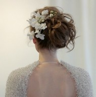 Messy Floral Updo