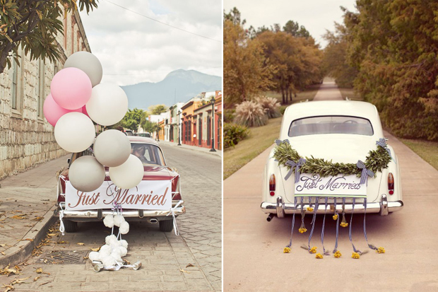 Attention grabbing wedding car decoration ideas junglespirit Gallery