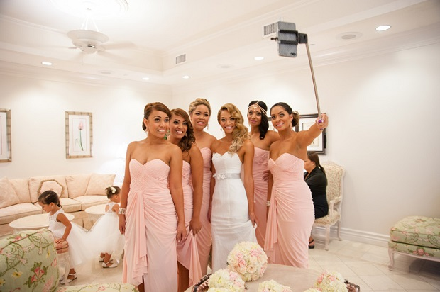 modern wedding dilemmas using selfie sticks