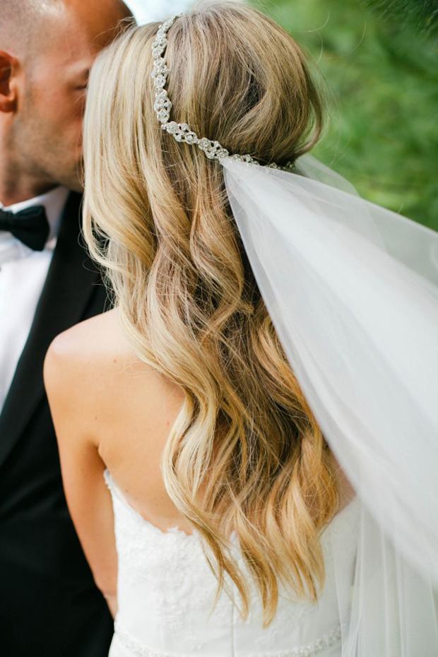 Dreamy Diamante Wedding Veil
