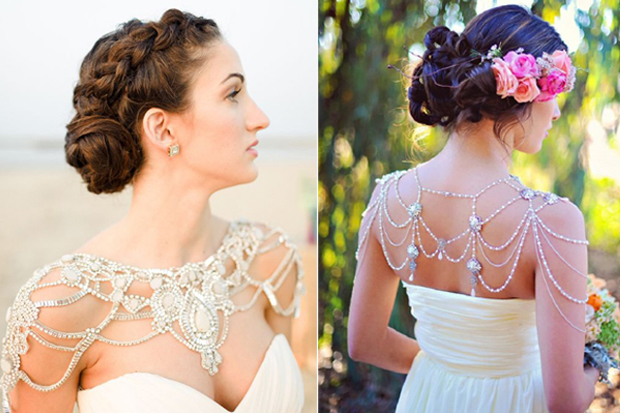 20 Bridal shoulder and back jewelry pieces