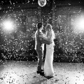 wedding first dance with confetti bombs
