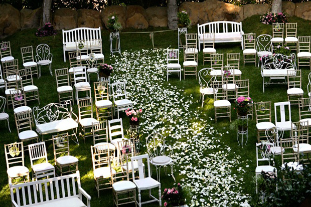 Mix And Match Ceremony Seating Decor