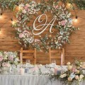 monogram decor wreath