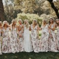 Floral Wedding Bridesmaids dress