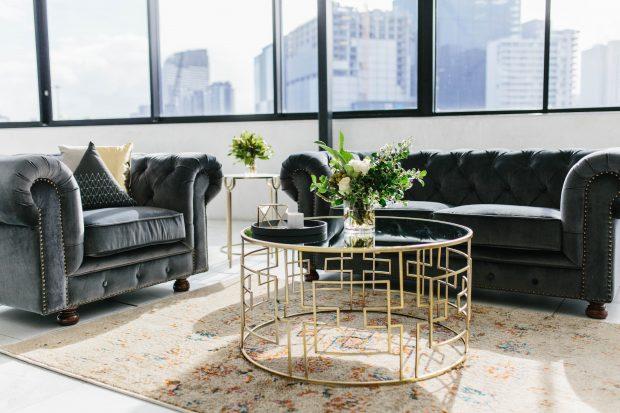 Innovative Hire Q&A lounge set up