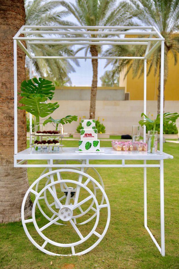 Innovative Hire Q&A Wedding Set up Cart