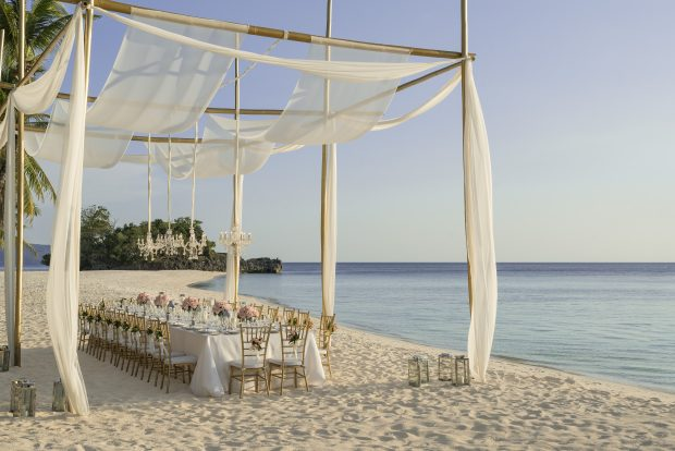 Shangri-La Boracay Outdoor beach wedding