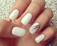 Chic White Nails