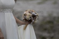 Fabric Bouquet in Winter Greys