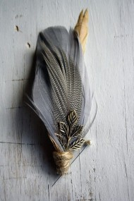 Feather Mix Buttonhole