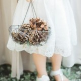 Flowergirl Basket with Pine Cones