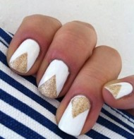 Gold Geometric Nails
