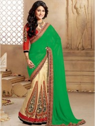 Green, Red & Gold Sari
