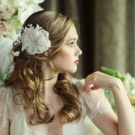 Ivory Crystal Floral Headpiece