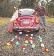 Just Married Pom-Poms