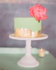 Mint & Gold Cake