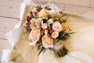 Peach Posy Autumn Bouquet