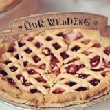 Pie With Wedding Banner