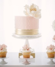 Pink & Gold Spotted Cake