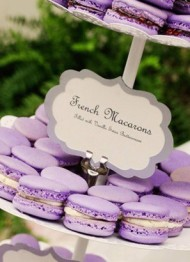 Lilac French Macarons