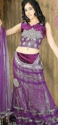 Stunning Purple Sari