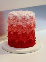 Red & Pink Frosted Cake