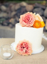 Simple Floral Cake