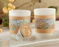 Vintage Map Tealight Wrap