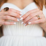 White Wedding Nails