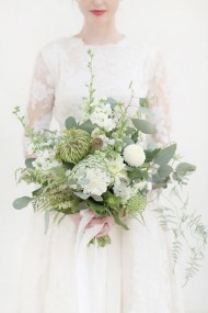 Wild White Wedding Bouquet