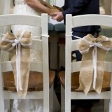 Burlap Ceremony Bows