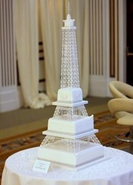 Eiffel Tower Wedding Cake (1st Sep 2015)